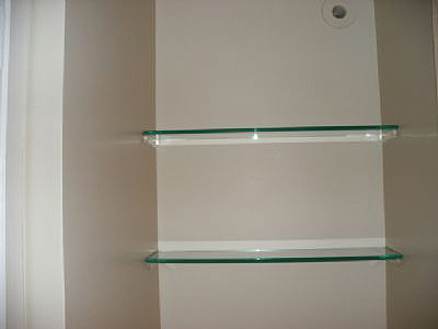 chicago glass shelving chicago bar glass shelves. Black Bedroom Furniture Sets. Home Design Ideas