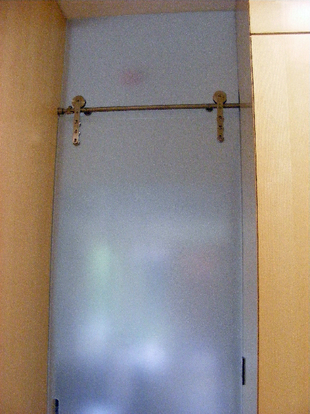 Etched Glass Sliding Shower Doors 450 x 600