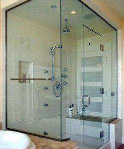 steam glass shower doors in Glencoe