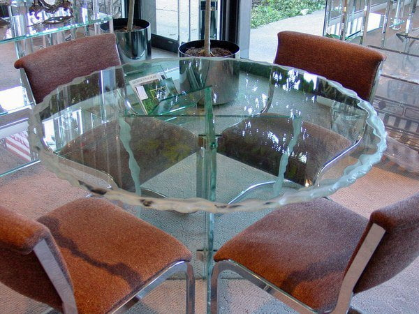 Highland Park Custom Glass Table